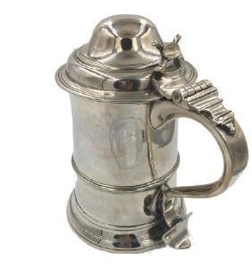 Tankard in argento sterling, Londra, 1771. A silver