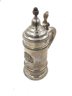 Tankard in argento sterling, Chester, 1882. A sivler