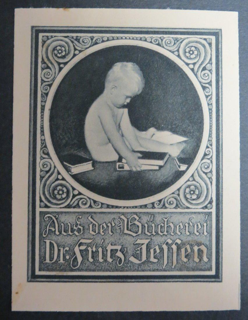"Ex Libris Germany Fritz Jessen 4"" x 3"""