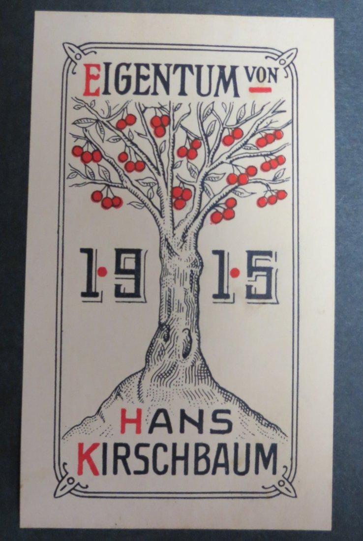 """Ex Libris Germany Hans Kirschbaun 1915 4"""" x 3"""""""