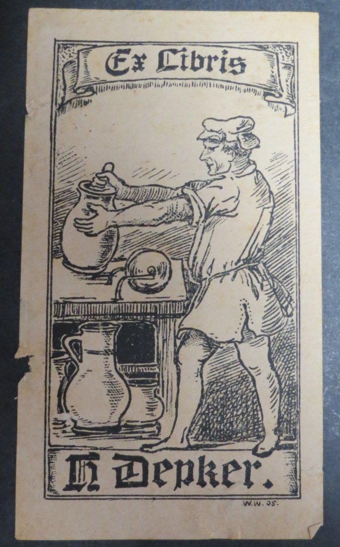 "Ex Libris Germany H. Dapker 1905 5.5"" x 2.9"""