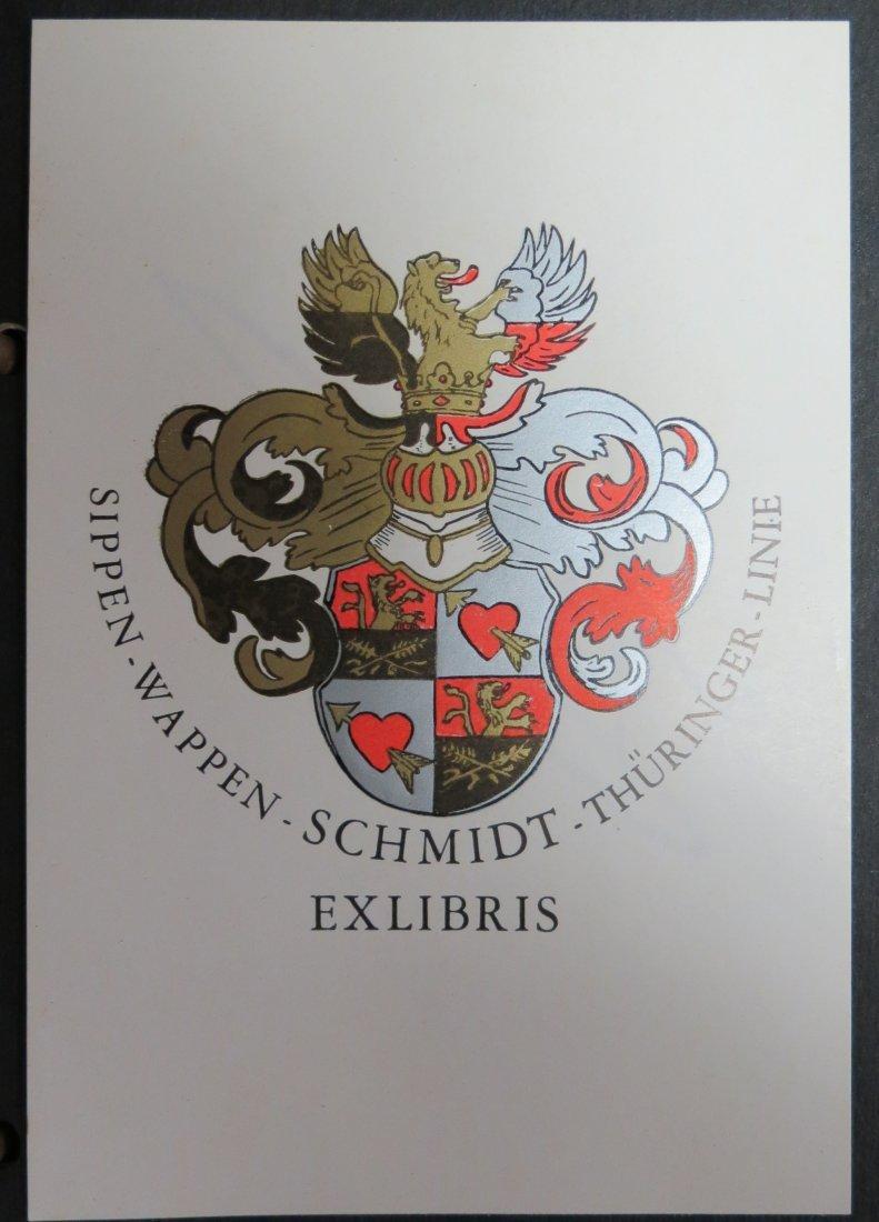 """Ex Libris Germany Sippen W Schmidt 4.8"""" x 3.2"""""""
