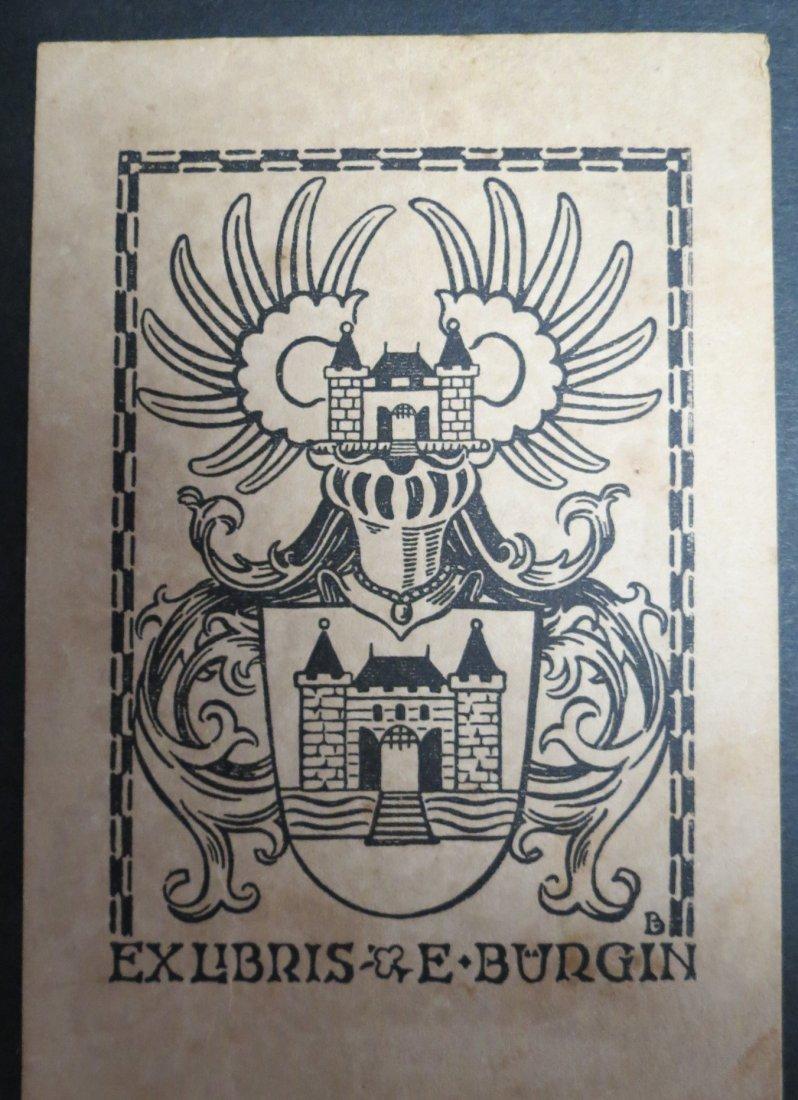 """Ex Libris Germany E Burgin 1940 5"""" x 3.5"""""""