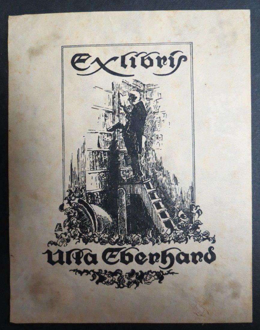 """Ex Libris Germany Upla Ebenhand 1940 4.5"""" x 3.5"""""""