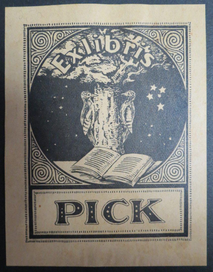"Ex Libris Germany Pick 1950 4"" x 3"""
