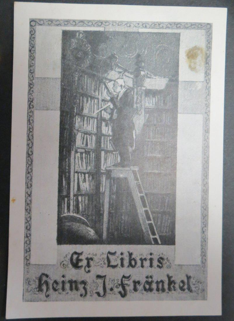 """Ex Libris Germany Heinz Frankel 1950 5"""" x 3.5"""""""