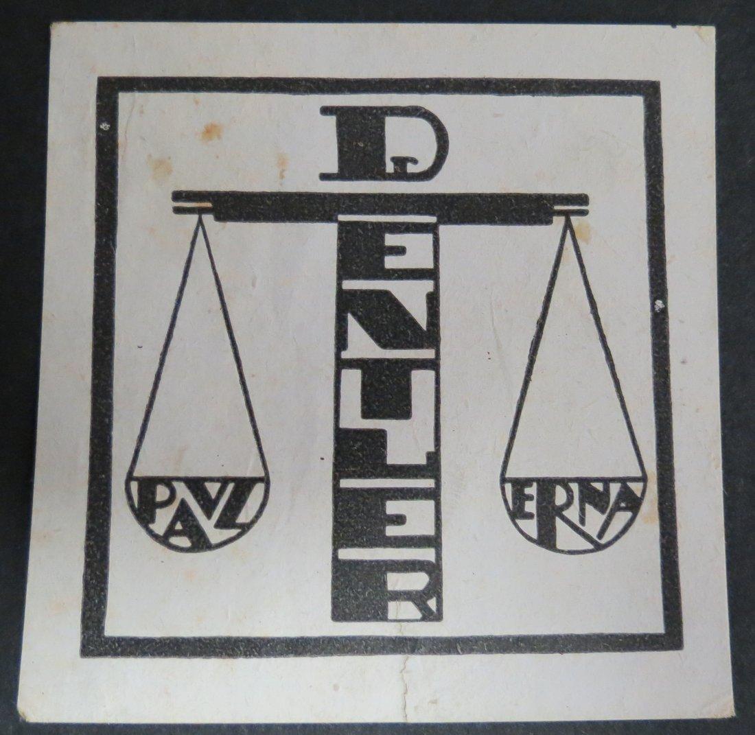 "Ex Libris Germany Paul & Erna Dentler 2.3"" x 2.3"""