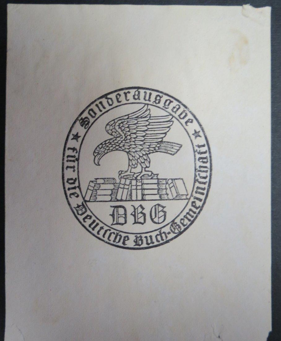 "Ex Libris Germany D. Buch Gemeinschaff 4.5"" x 3"""