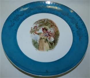 Porcelain Plate Victoria Austria Signed, H.Ztazka