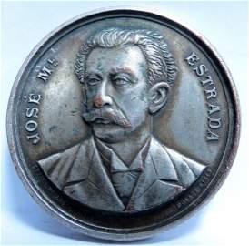 "Bronze Medal Estrada 1910 Diam: 1.7"" By Orzali"