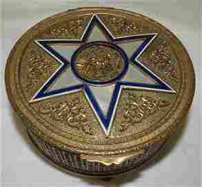 Enamel & Mother Pearl Jewelry Box France 1890