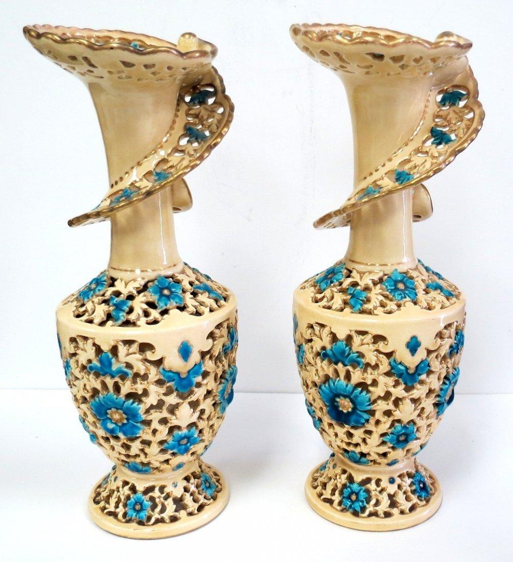 """Pair of Italian Ceramic Vases H: 11.5"""" Diam: 5"""""""