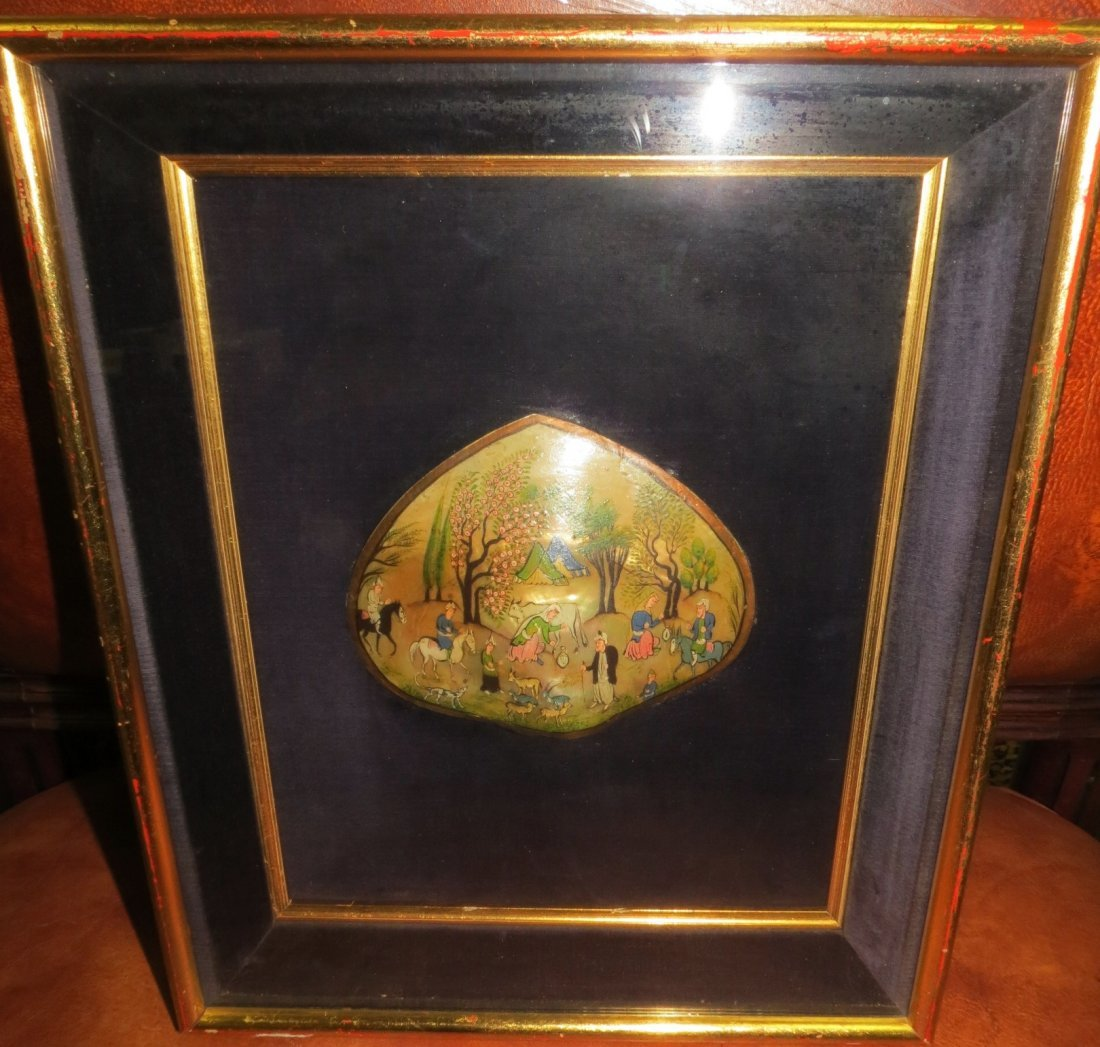 """Miniature over Mother Pearl Frame: 12"""" x 10"""""""