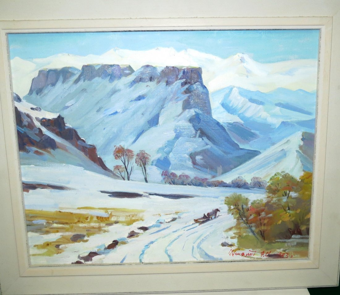 Avagyan Gevord Armenian Oil on Canvas Painting