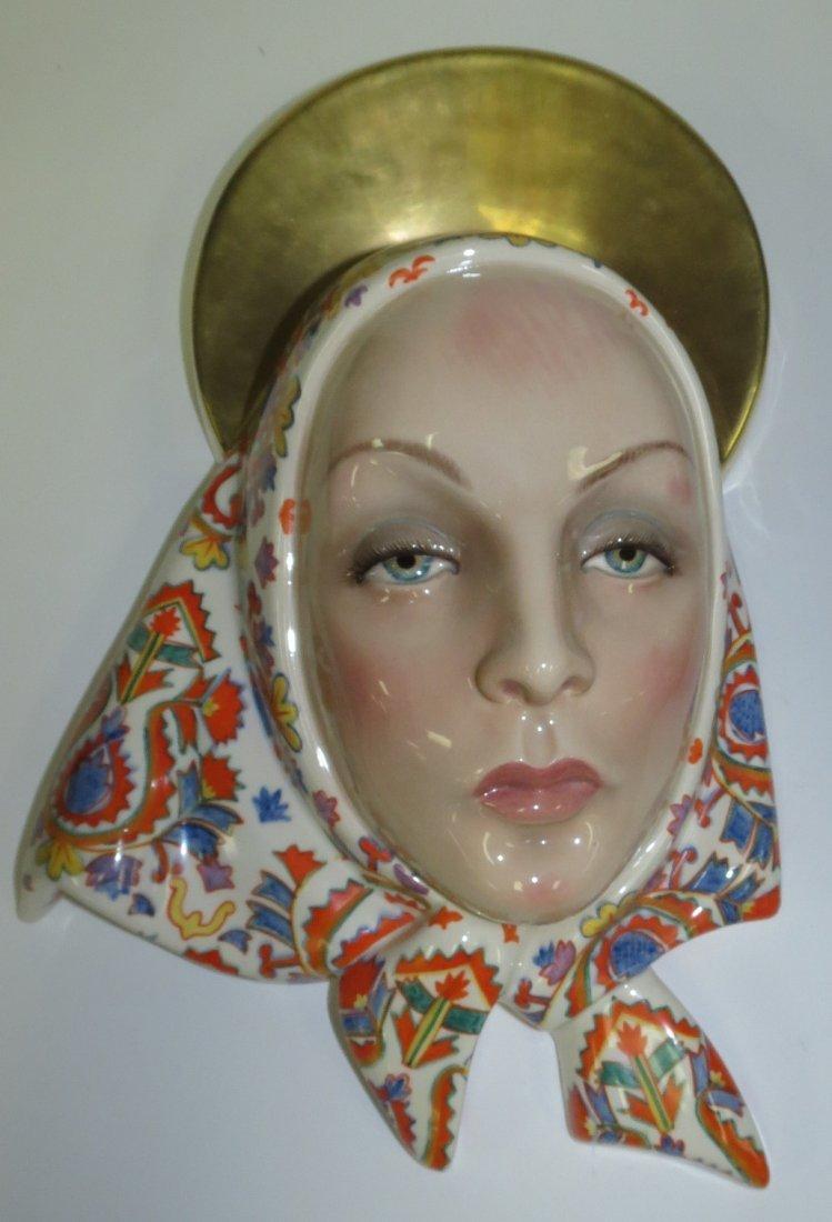 Lenci Porcelain Woman Face Small Restoration
