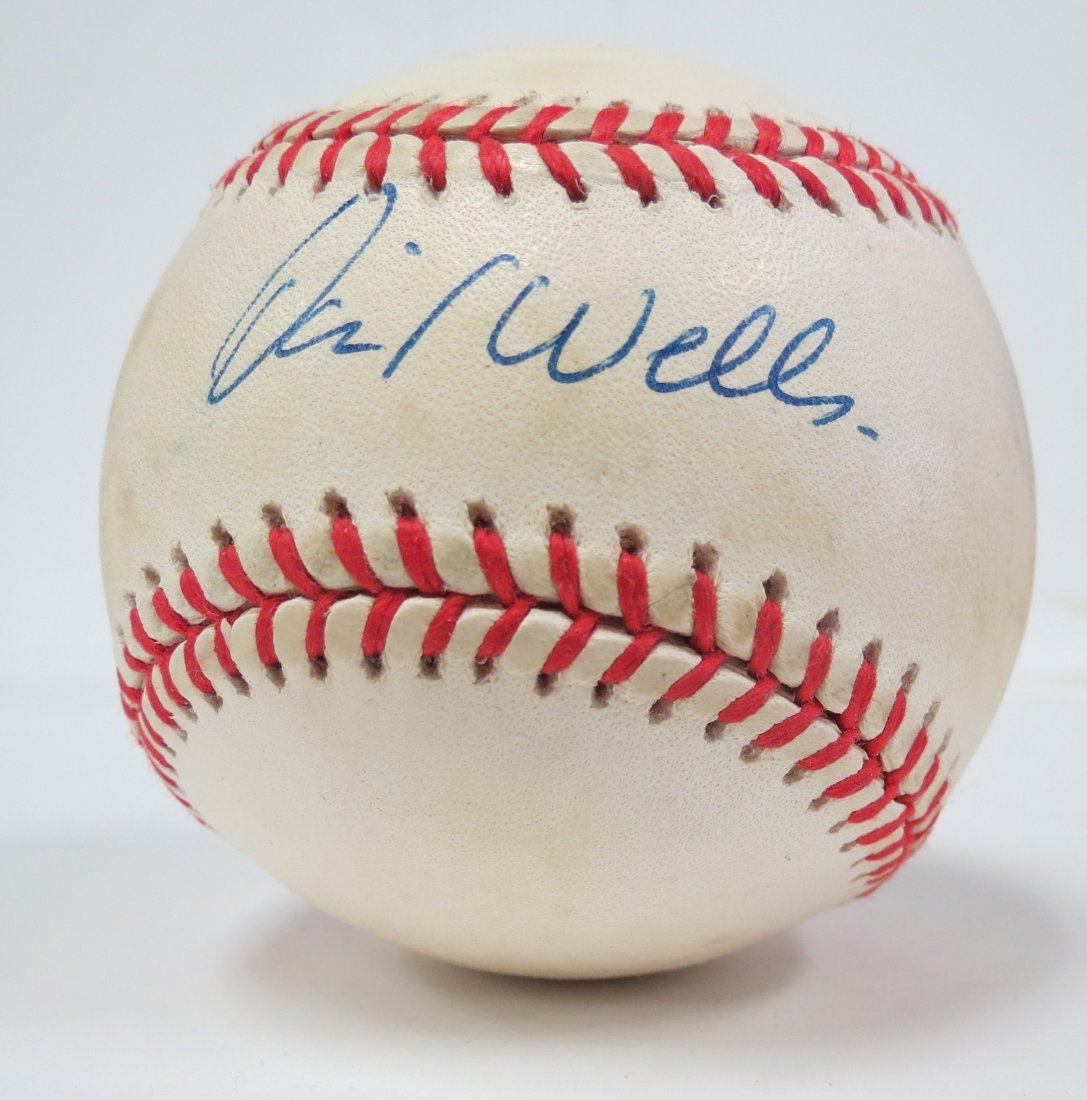 David Wells signed baseball with Certificate of