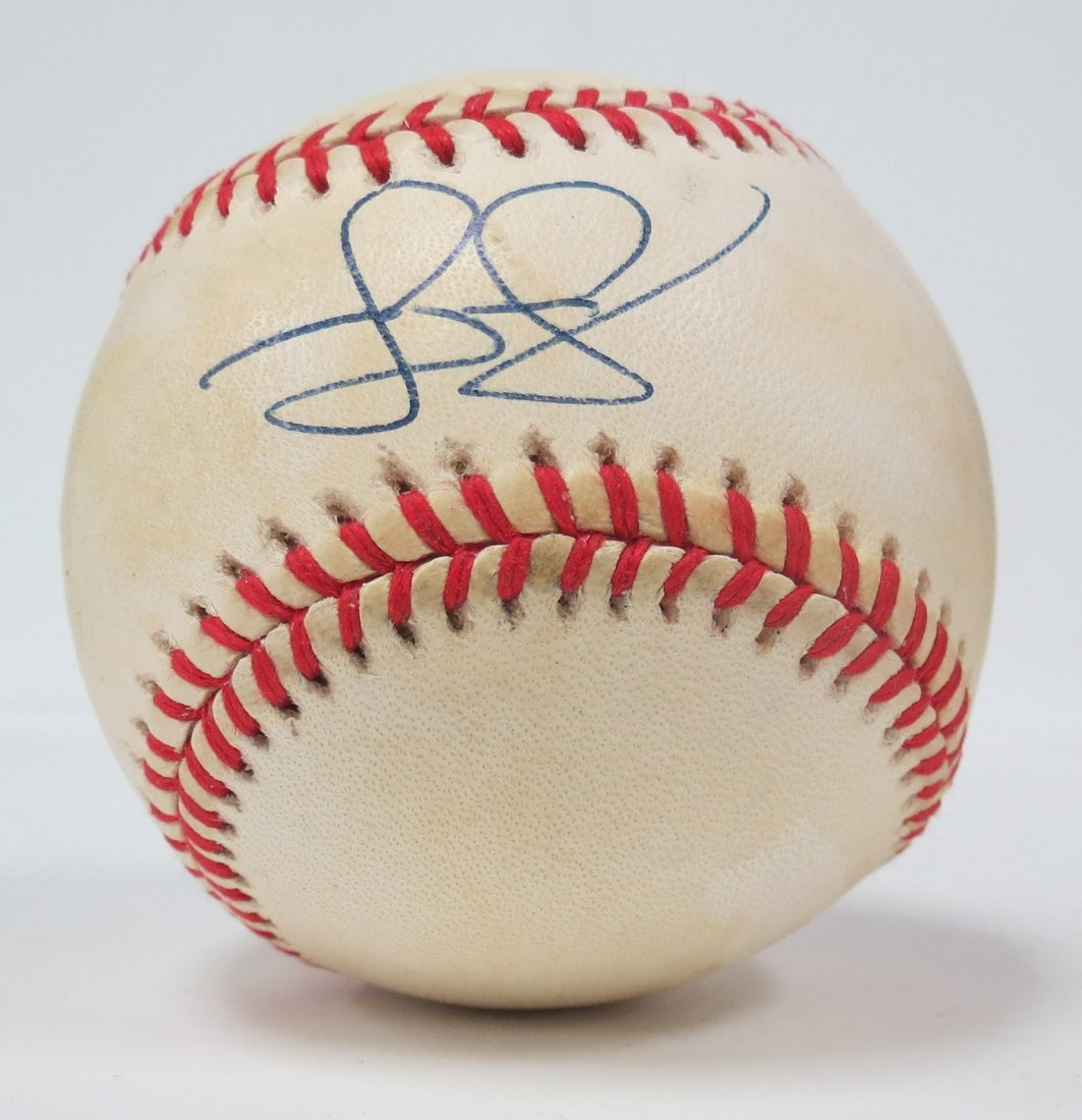 Jeff Nelson signed baseball with Certificate of