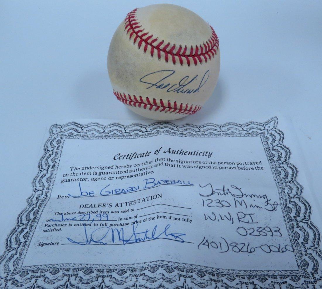 Joe Girardi signed baseball with Certificate of