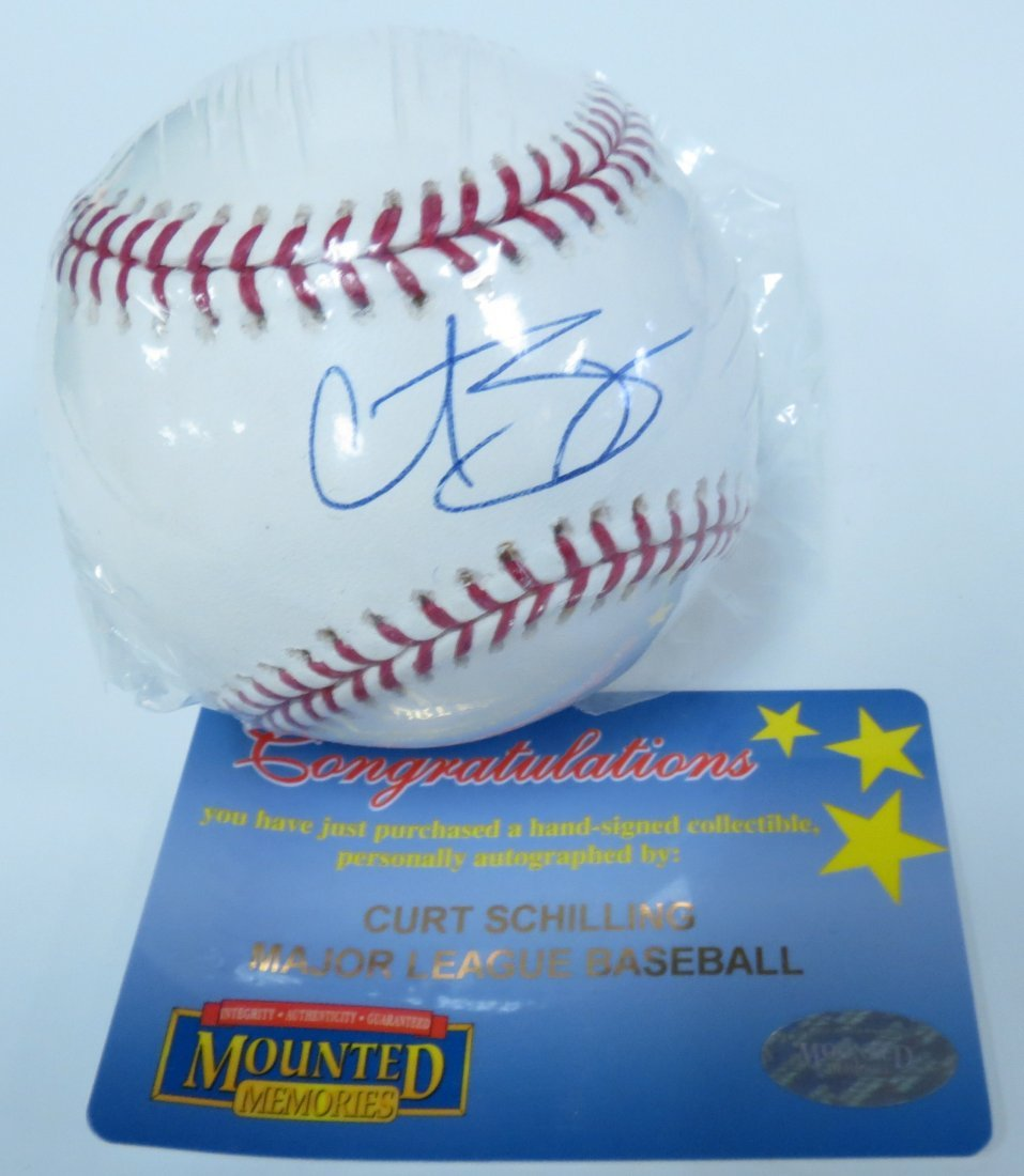 Curt Shilling signed baseball with Certificate of