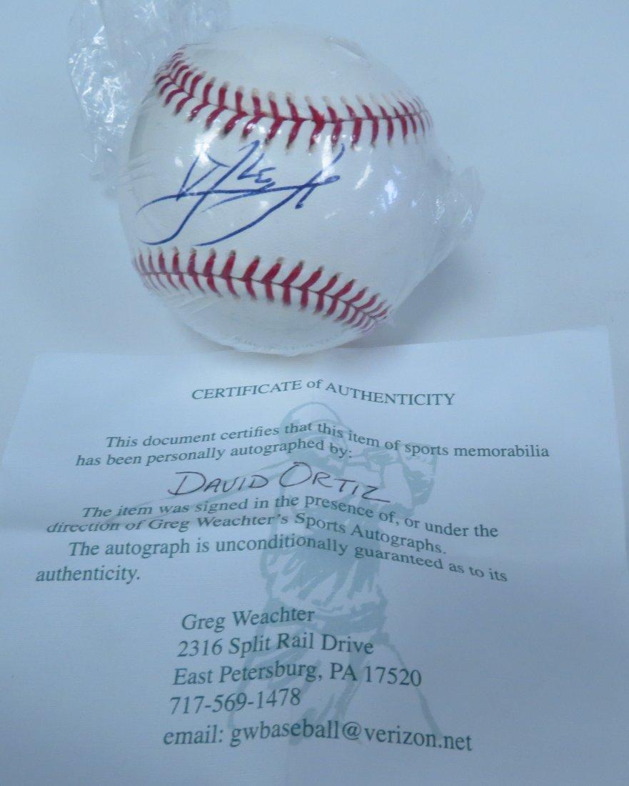 David Ortiz signed baseball with Certificate of