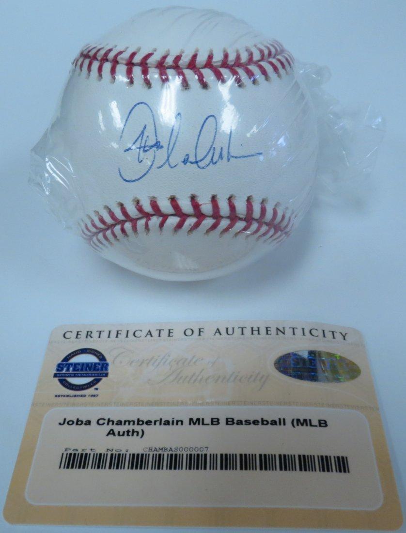 Joba Chamberlain signed baseball with Certificate of