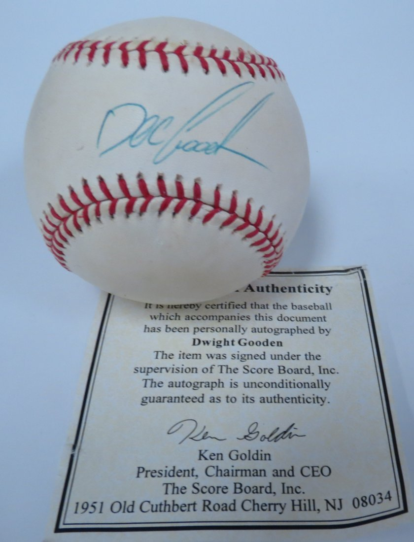 Doc Gooden signed baseball with Certificate of