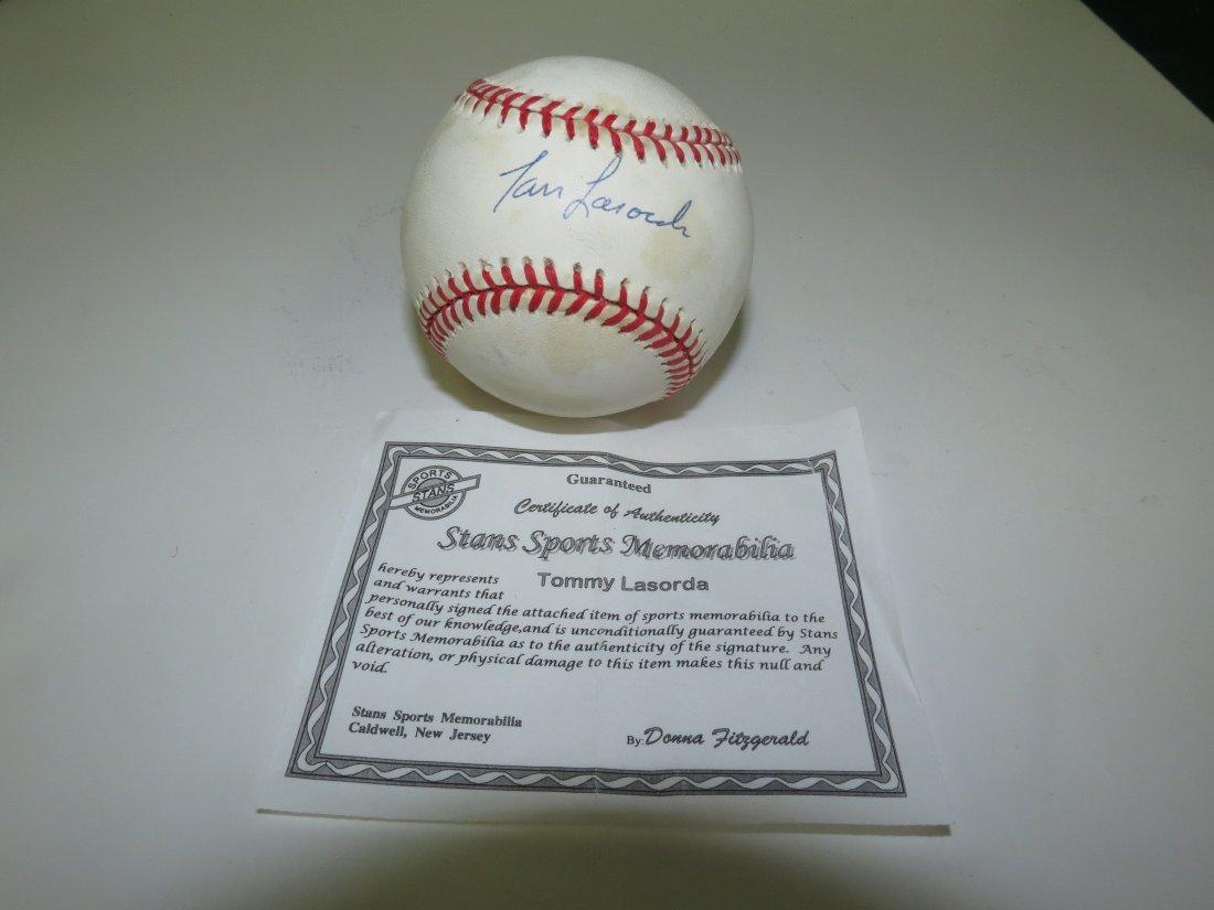Tom Lasarda signed baseball with Certificate of