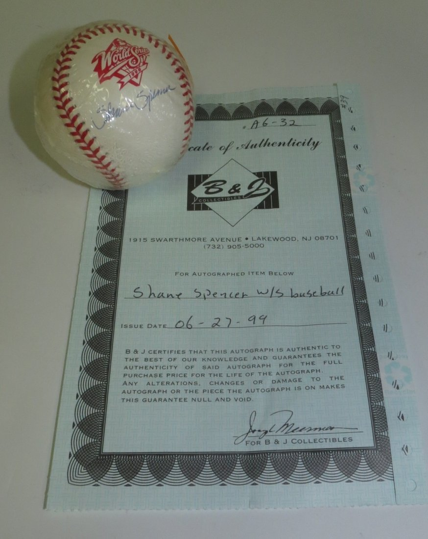 Share Spencer signed baseball with Certificate of