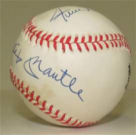 Mantle - Mays - Snider signed baseball