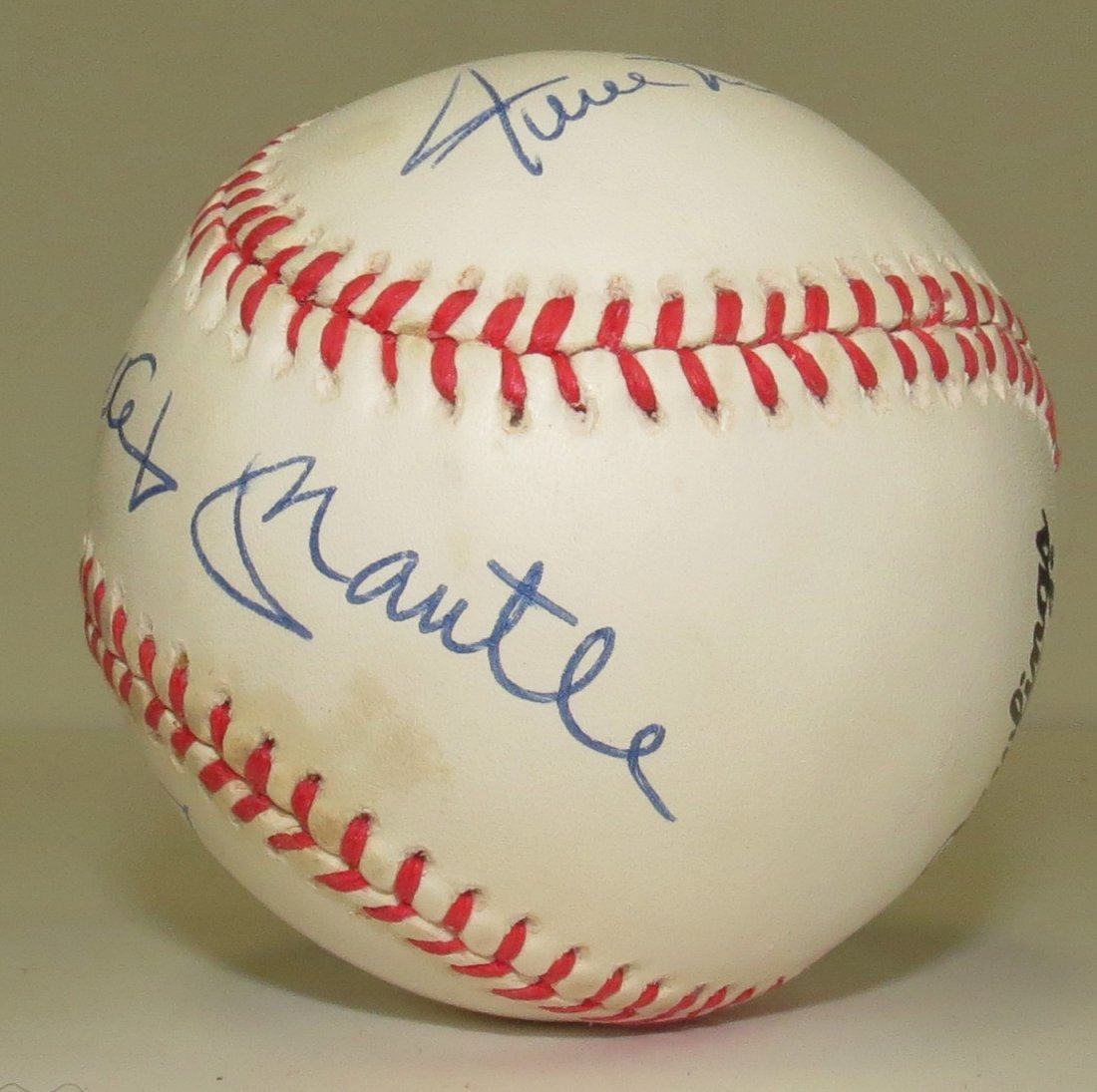 Mantle - Mays - Snider signed baseball