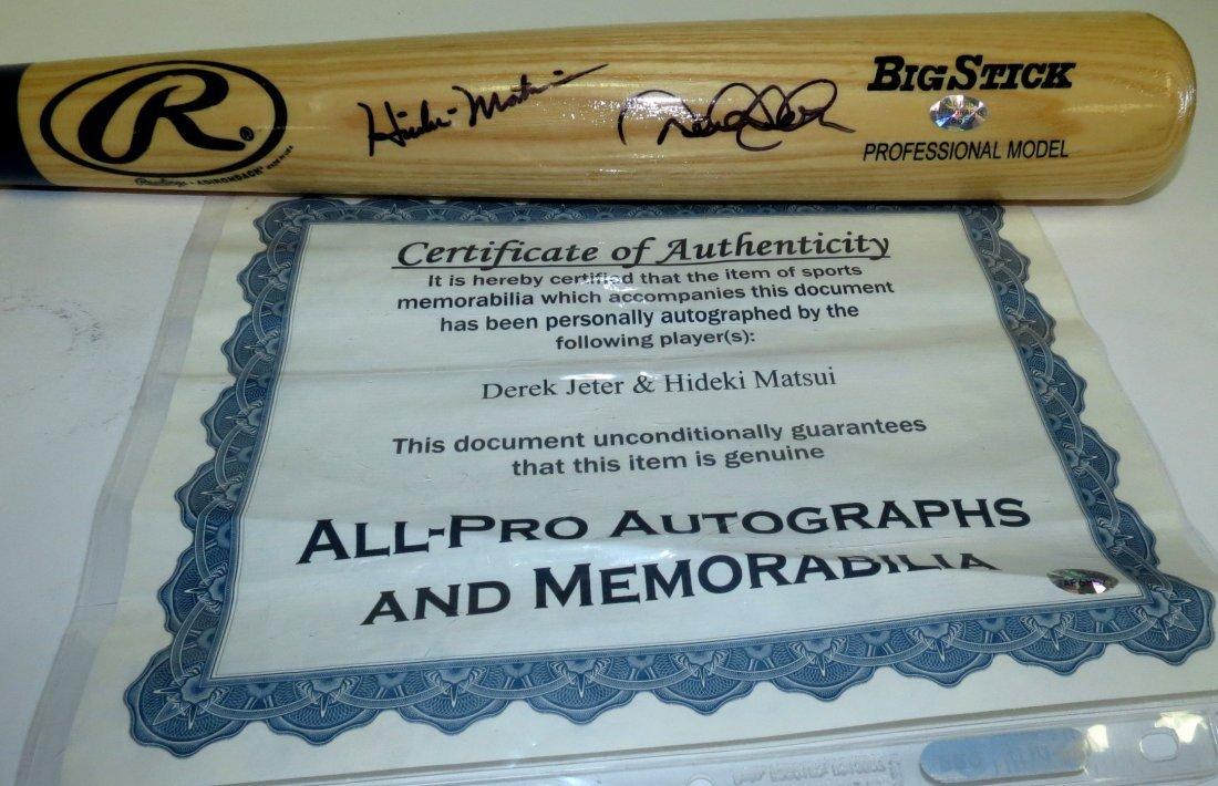 Hideki Matsui & Derek Jeter Bat Signed