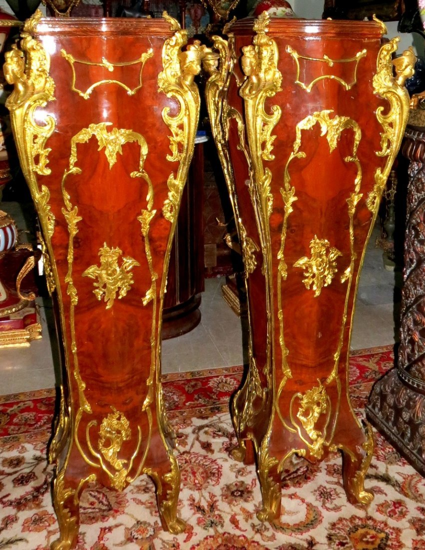 "Pair of Empire Style Pedestals H-59"" W- 20"" D-20"""