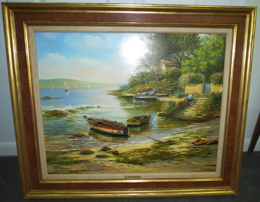 """Raymond Quence Oil On Canvas 40"""" x 33"""""""