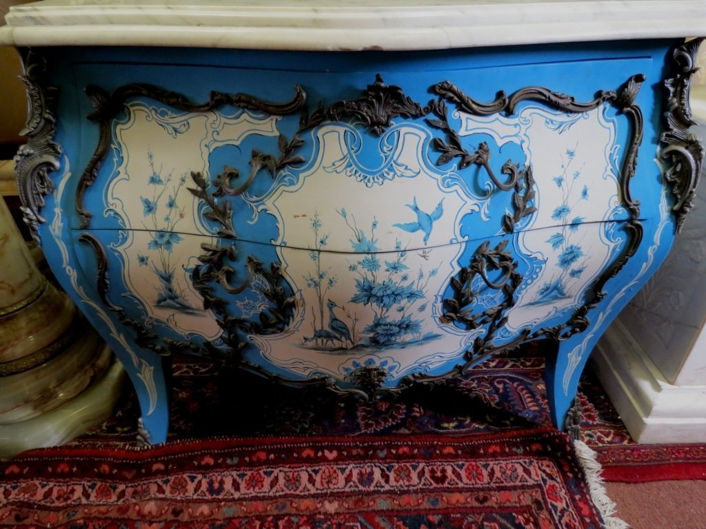 Italian Commode w/ White Marble Top