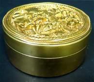 "Dore Bronze Jewelry Box France 1920 H: 2"" D: 4"""
