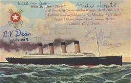 A 83 x 14cm vintage National Series memorial postcard