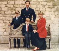 Royal Christmas Card for year 1991 signed by Charles,