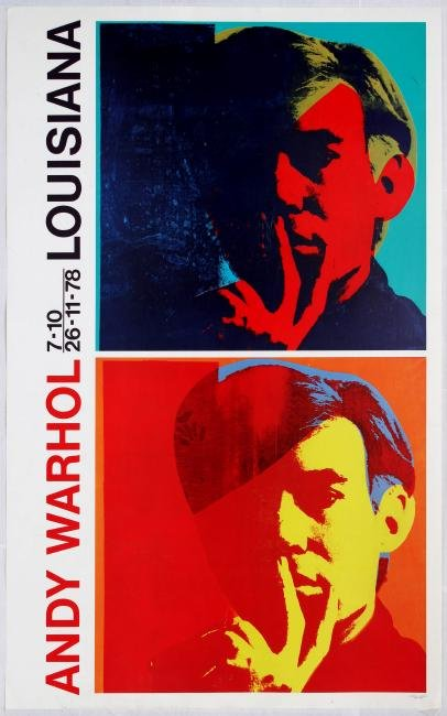 Advertising Poster Andy Warhol Exhibition