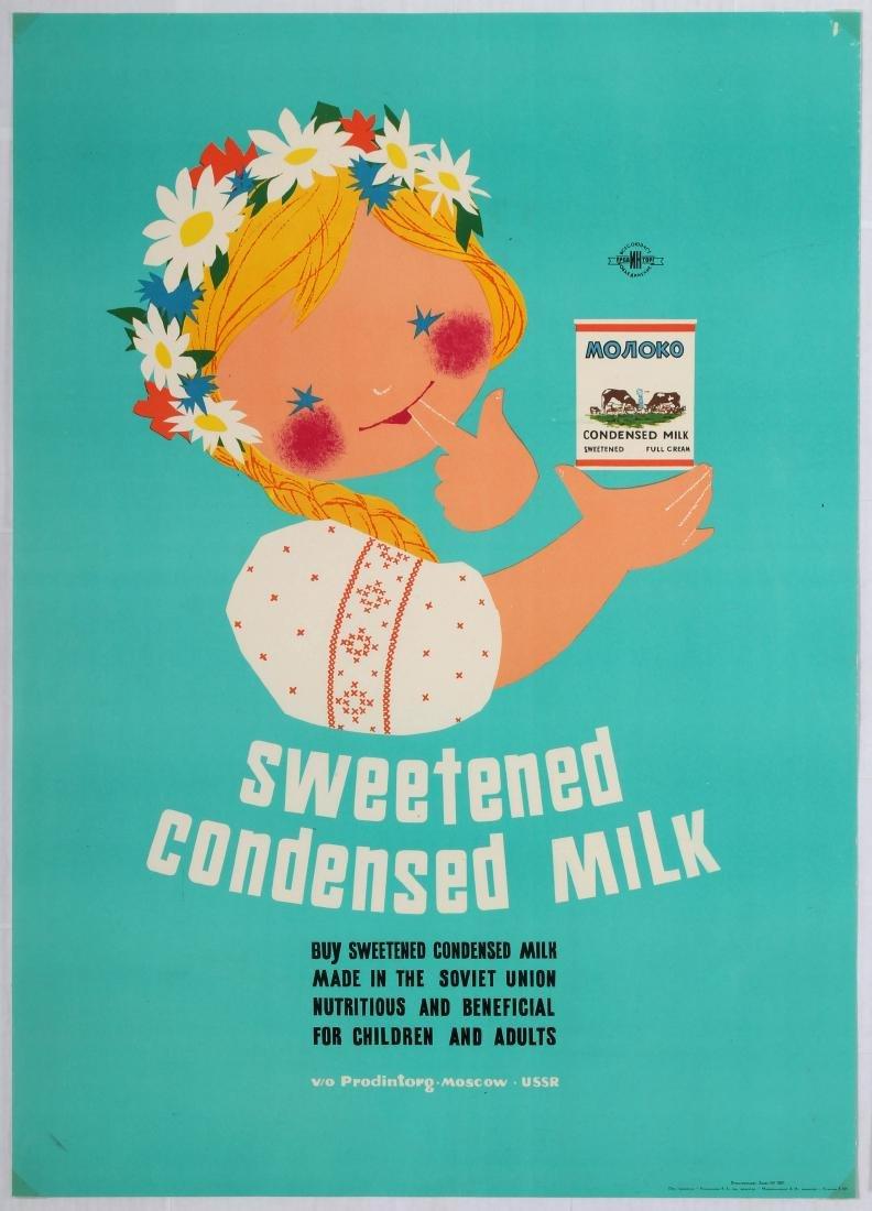 Advertising Poster Sweetened Condensed Milk Buy
