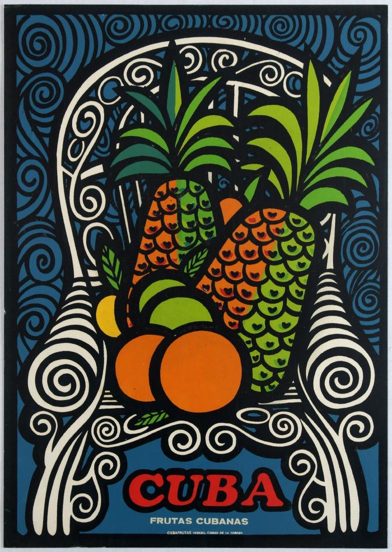 Advertising Poster Cuba Cuban Fruits