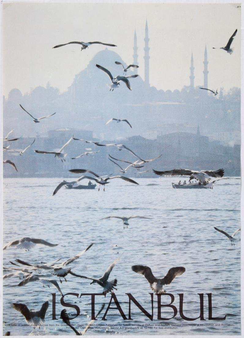 Travel Poster Istanbul A view of Suleymaniye Mosque