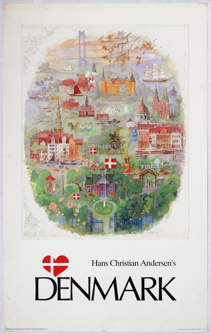 Travel Poster Hans Christian Andersen's Denmark