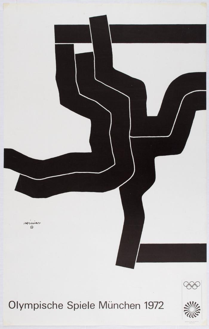 Sport Poster 1972 Munich Olympic Games Eduardo Chillida