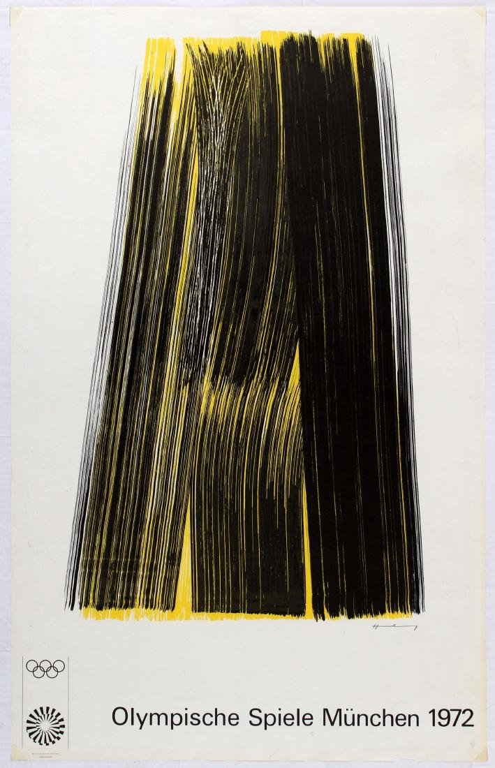 Sport Poster 1972 Munich Olympic Games Hans Hartung