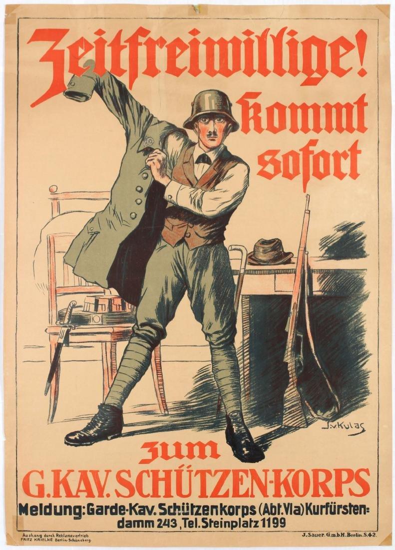 Propaganda poster German Freikorps Enrolment Poster