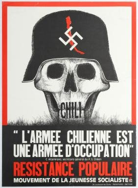French Propaganda Poster Chile Army Occupation