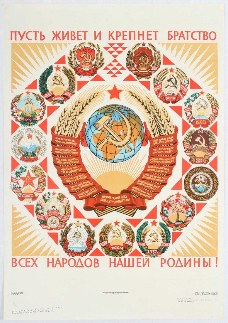 Set of 5 Soviet Propaganda Posters USSR Revolution - 4