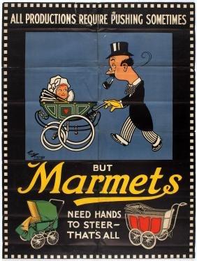 Advertising Poster Marmets Baby Prams