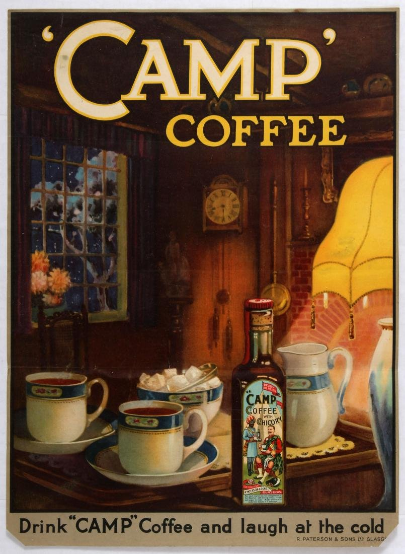 Advertising Poster Camp Coffee Drink Laugh at the Cold