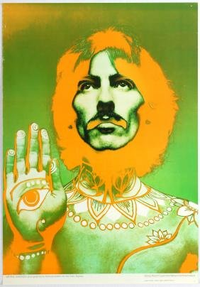 Advertising Poster The Beatles Avedon George Harrison